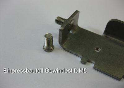Einpressbauteil Gewindestift M5