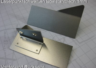 Laserpunktschweißen Edelstahl 1mm