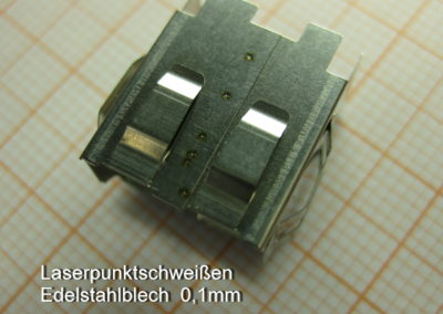 Laserpunktschweißen Edelstahlblech 0,1mm