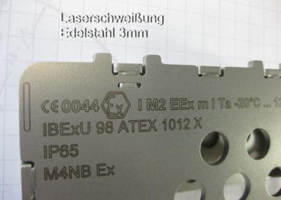Laserschweißung Edelstahl 3mm