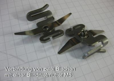 Verbindung von zwei Blechen mit Blindnietmutter M5