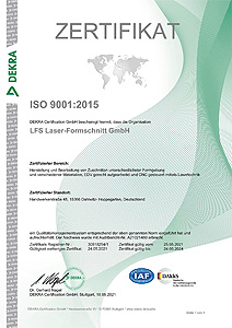 ISO9001 Zertifikat 2021